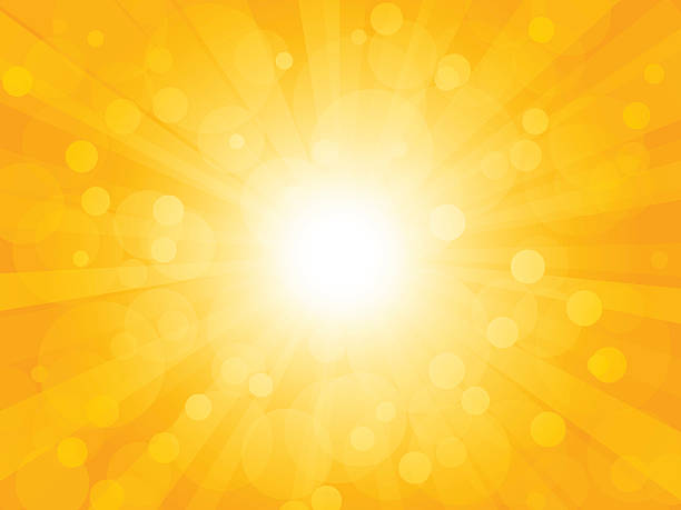 Summer brightly background with rays vector art illustration