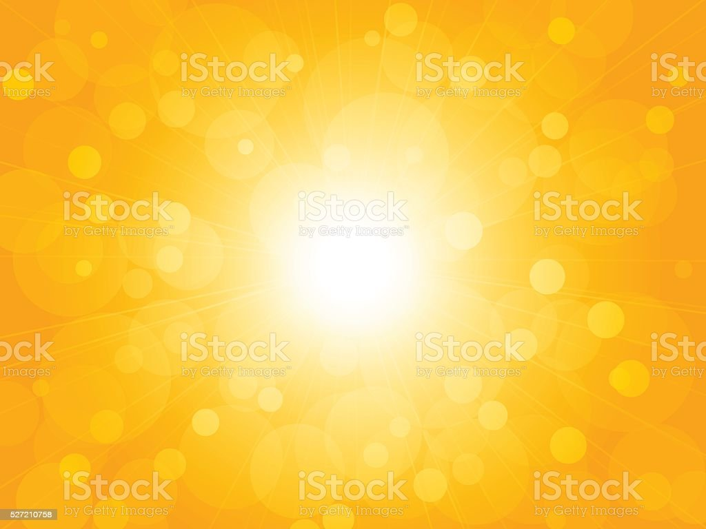 summer brightly blur ray yellow background vector art illustration