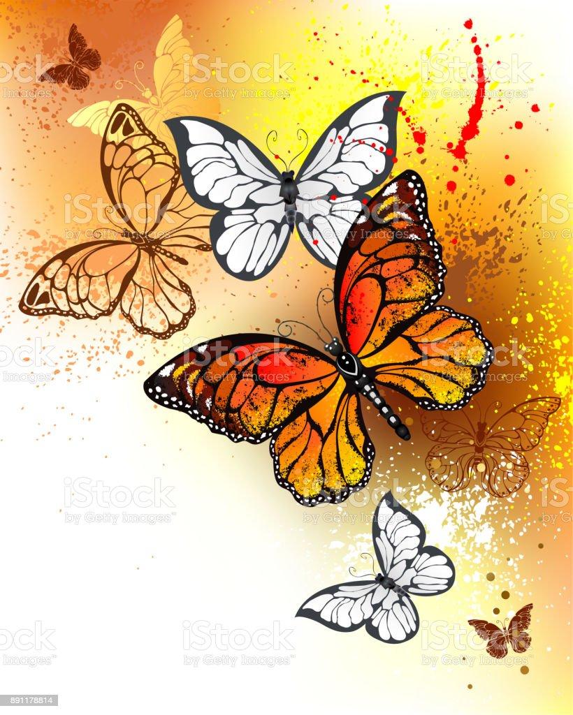 Ilustración de Verano Mariposas Monarcas y más banco de imágenes de ...