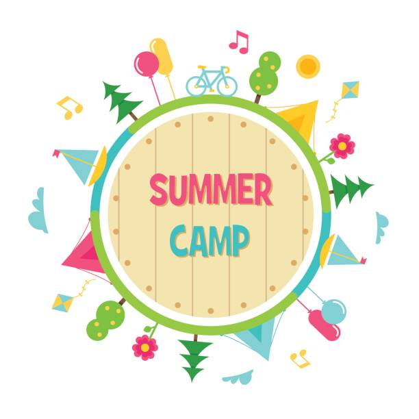 Top 60 Summer Camp Kids Clip Art Vector Graphics And Illustrations