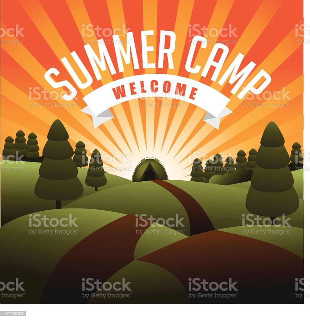 Summer camp burst EPS 10 vector vector art illustration