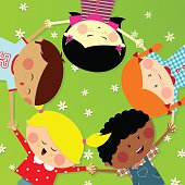 Multicultural group of kids. Please see some similar pictures in my lightboxs:
