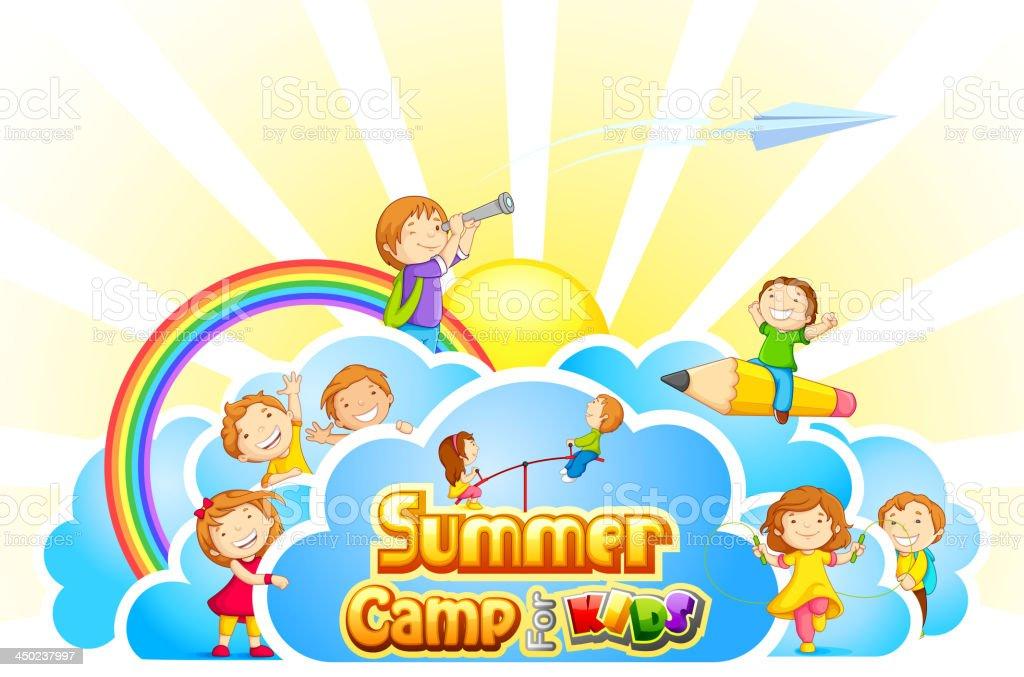 Summer Camp for Kids vector art illustration
