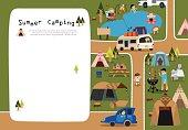 Summer camp ground frameA