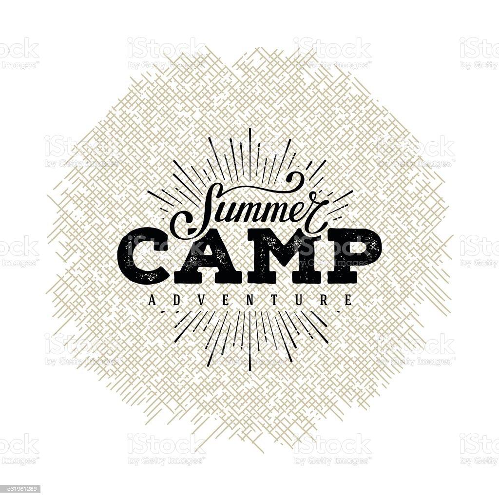 Summer camp starburst vector art illustration