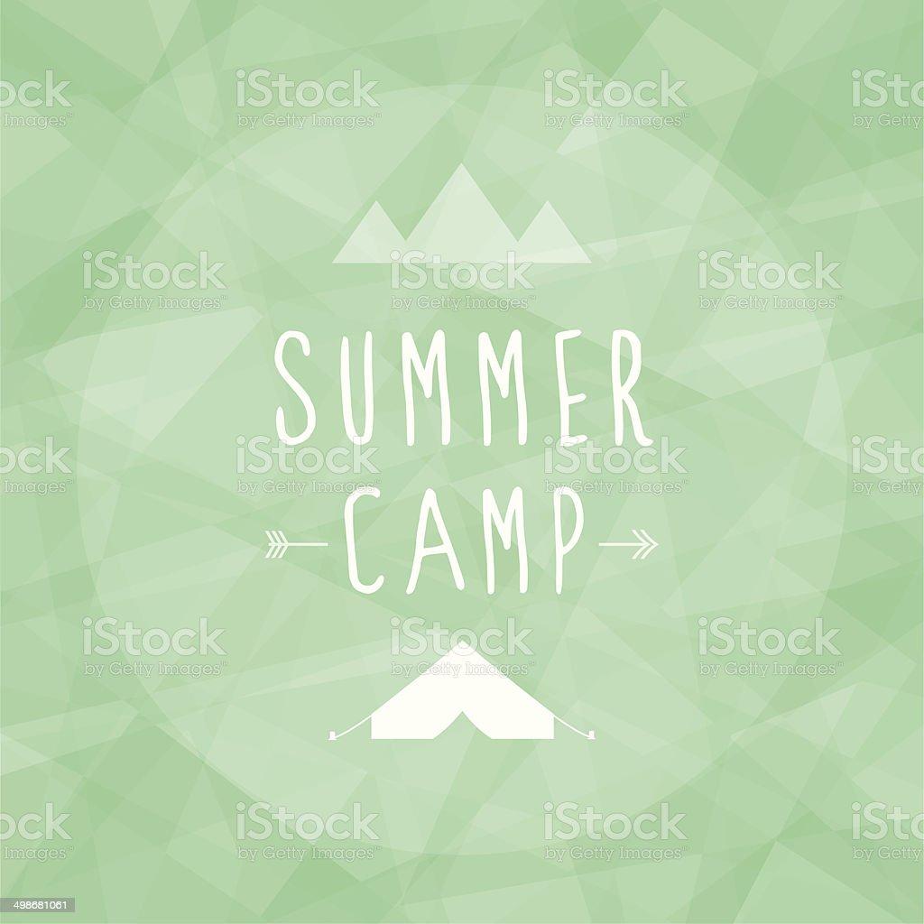 Summer camp vector art illustration