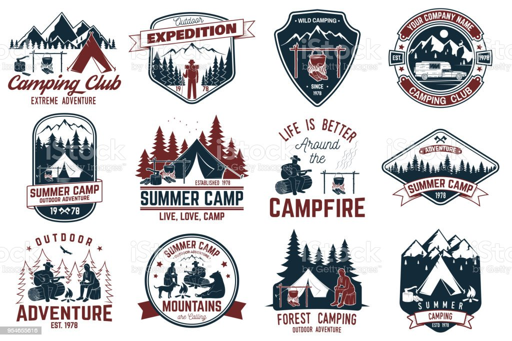 Summer camp. Vector illustration. Concept for shirt or logo, print, stamp or tee vector art illustration