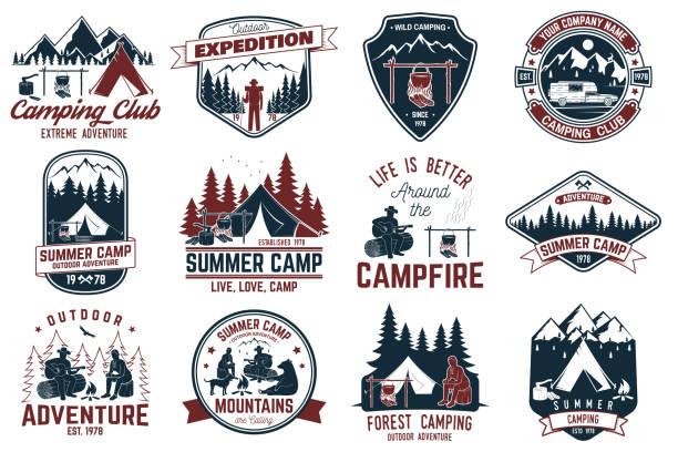 Summer camp. Vector illustration. Concept for shirt or logo, print, stamp or tee vector art illustration