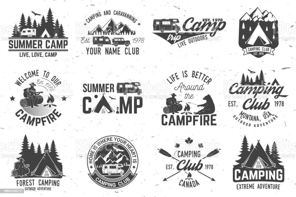 Summer camp. Vector illustration. Concept for shirt or , print, stamp or tee vector art illustration