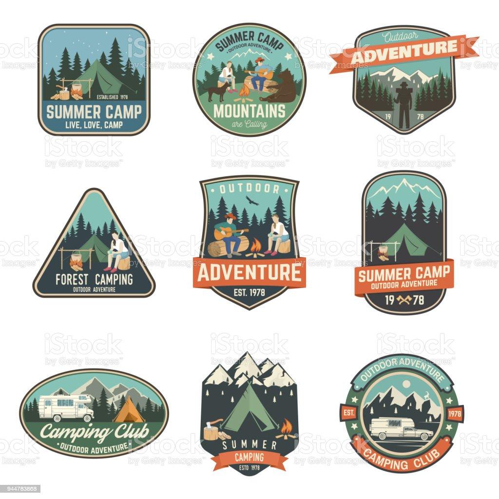 da030672d4ca Summer Camp Vector Illustration Concept For Shirt Or Symbol Print ...