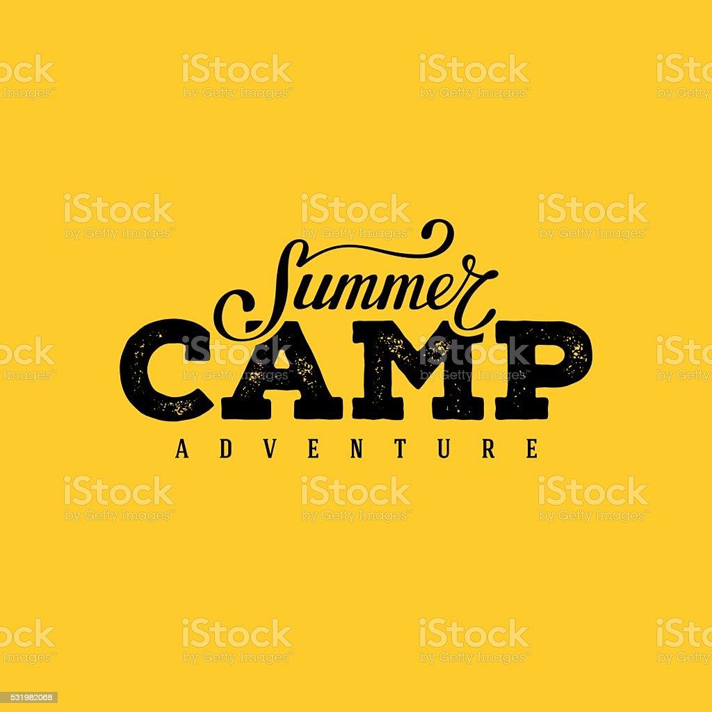 Summer camp yellow vector art illustration