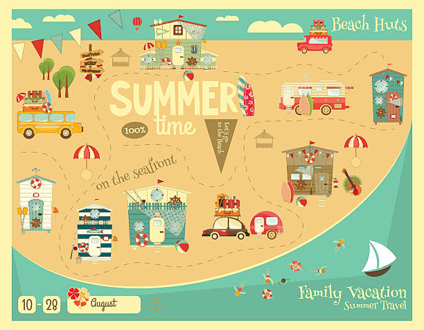 Summer Card vector art illustration