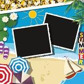 Summer celebration collage