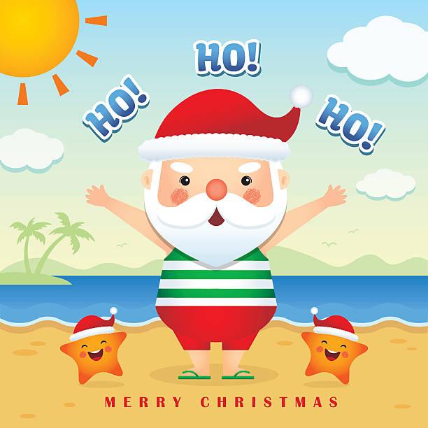 summer christmas illustration 5 - old man slippers stock illustrations, clip art, cartoons, & icons