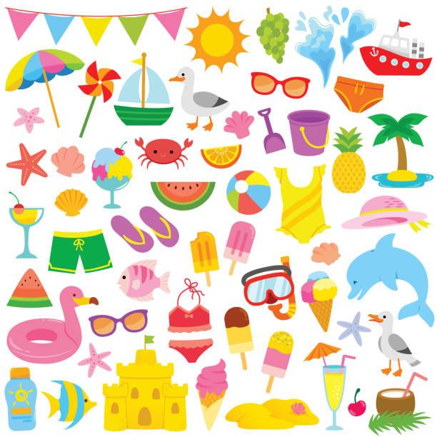 Summer Clipart for kids vector art illustration