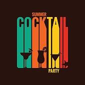 summer cocktail party menu design background