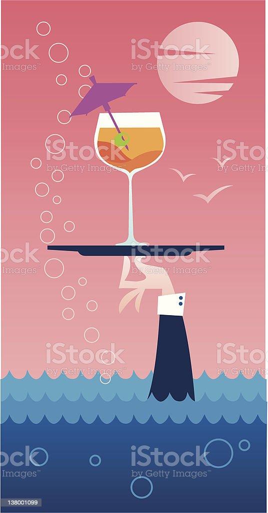 Cocktail estivo - illustrazione arte vettoriale