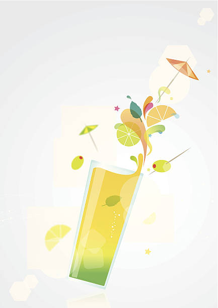 illustrazioni stock, clip art, cartoni animati e icone di tendenza di cocktail estivo - aperitivo