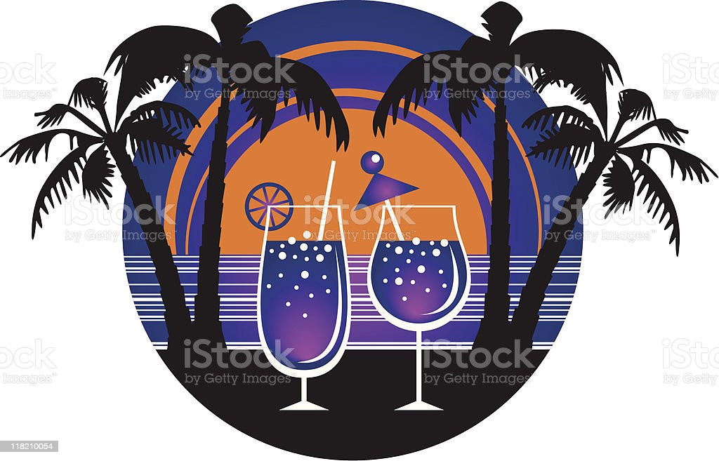 Summer cocktails royalty-free stock vector art