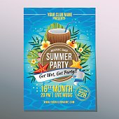 summer coconut party poster