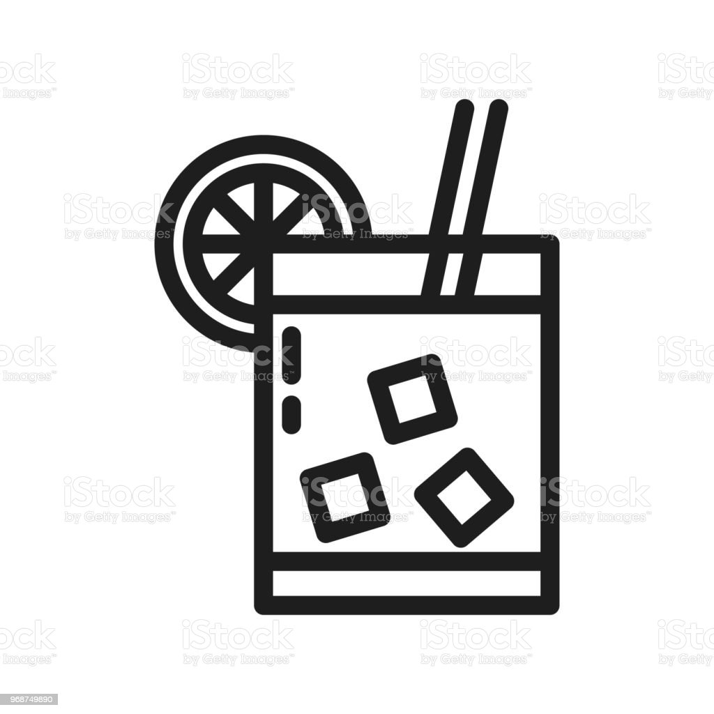 drink glass with ice cubes and straw free icon flaticon - 612×612
