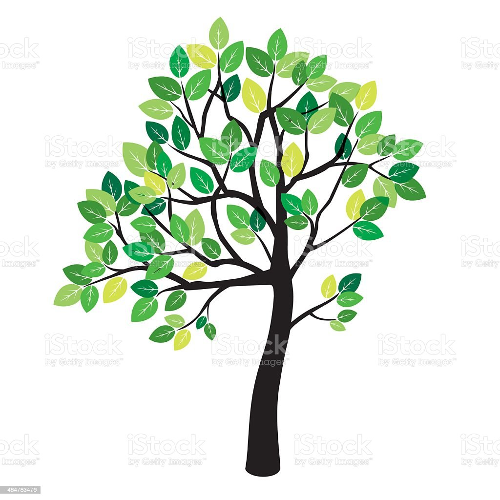 Summer Color Tree Stock Vector Art & More Images of 2015 484783476 ...