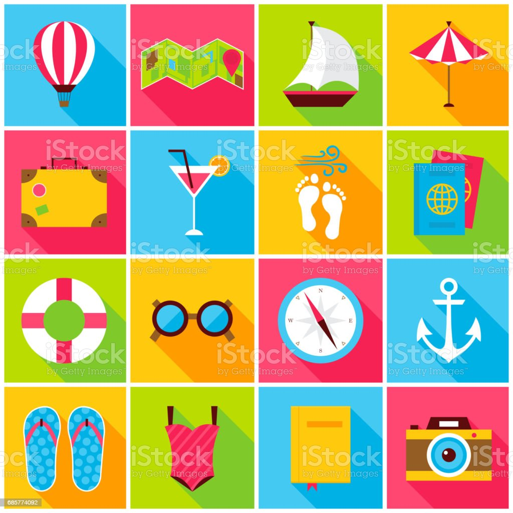 Summer Colorful Icons royalty-free summer colorful icons stock vector art & more images of alcohol