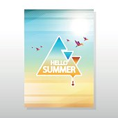 Summer Colorful Poster / Flyer Vector Illustration. Can be use Party Flyer