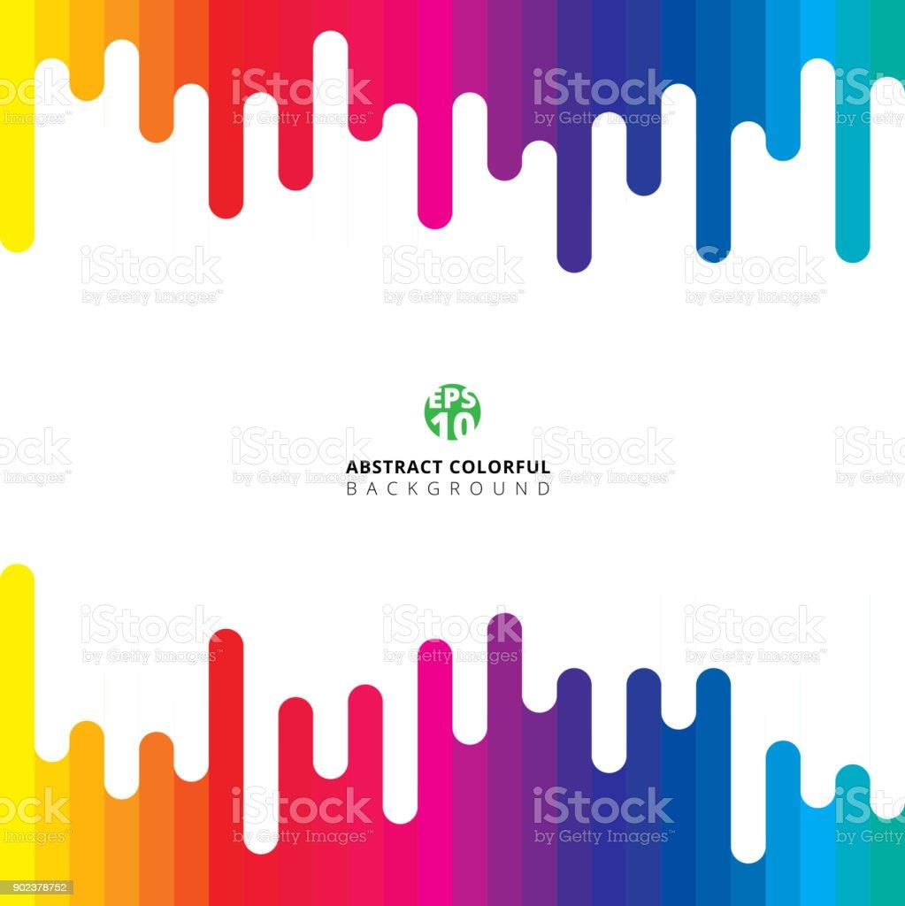 Línea vertical rayado colorido verano redondo Patrón - ilustración de arte vectorial