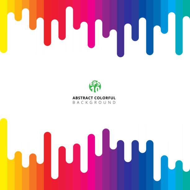 ilustraciones, imágenes clip art, dibujos animados e iconos de stock de línea vertical rayado colorido verano redondo patrón - fondos coloridos
