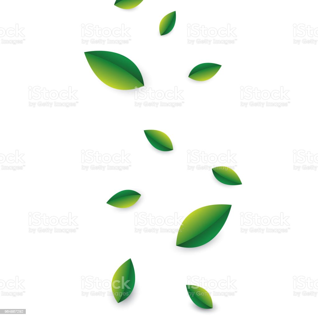 Summer concept with flying green leaves foliage on white transparent background. Vector illustration royalty-free summer concept with flying green leaves foliage on white transparent background vector illustration stock vector art & more images of backgrounds