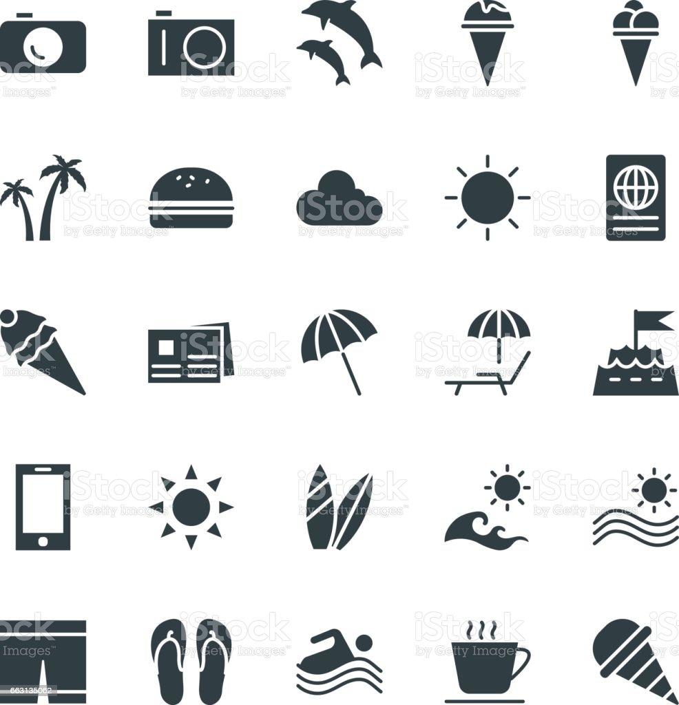 Summer Cool Vector Icons 2 vector art illustration
