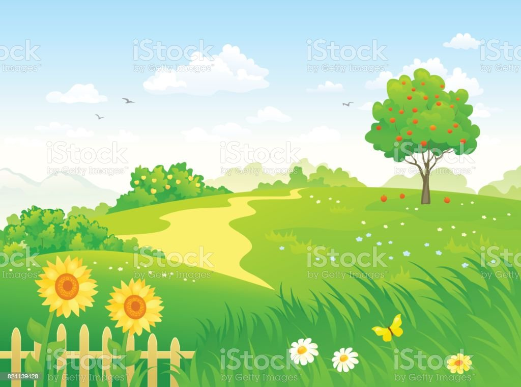 Awesome Summer Country Garden Royalty Free Summer Country Garden Stock Vector Art  U0026amp; More Images