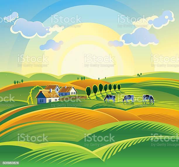 Summer countryside landscape vector id505983826?b=1&k=6&m=505983826&s=612x612&h=4tfj5g2gcjaarep3oriquitlnzs 3cgmq326vx7dtp0=