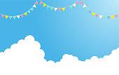 Summer cumulonimbus and decoration
