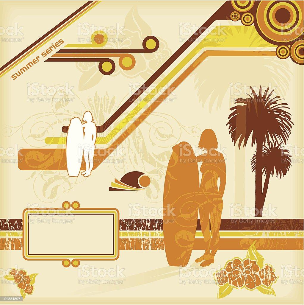 Summer Design Elements (JPG  & VECTOR) royalty-free summer design elements stock vector art & more images of beach