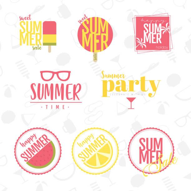 bildbanksillustrationer, clip art samt tecknat material och ikoner med sommaren design - summer sweden