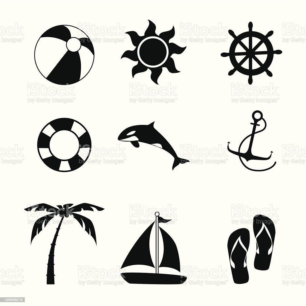 summer design vector art illustration