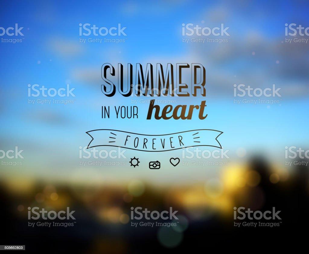 Summer Design. vector art illustration