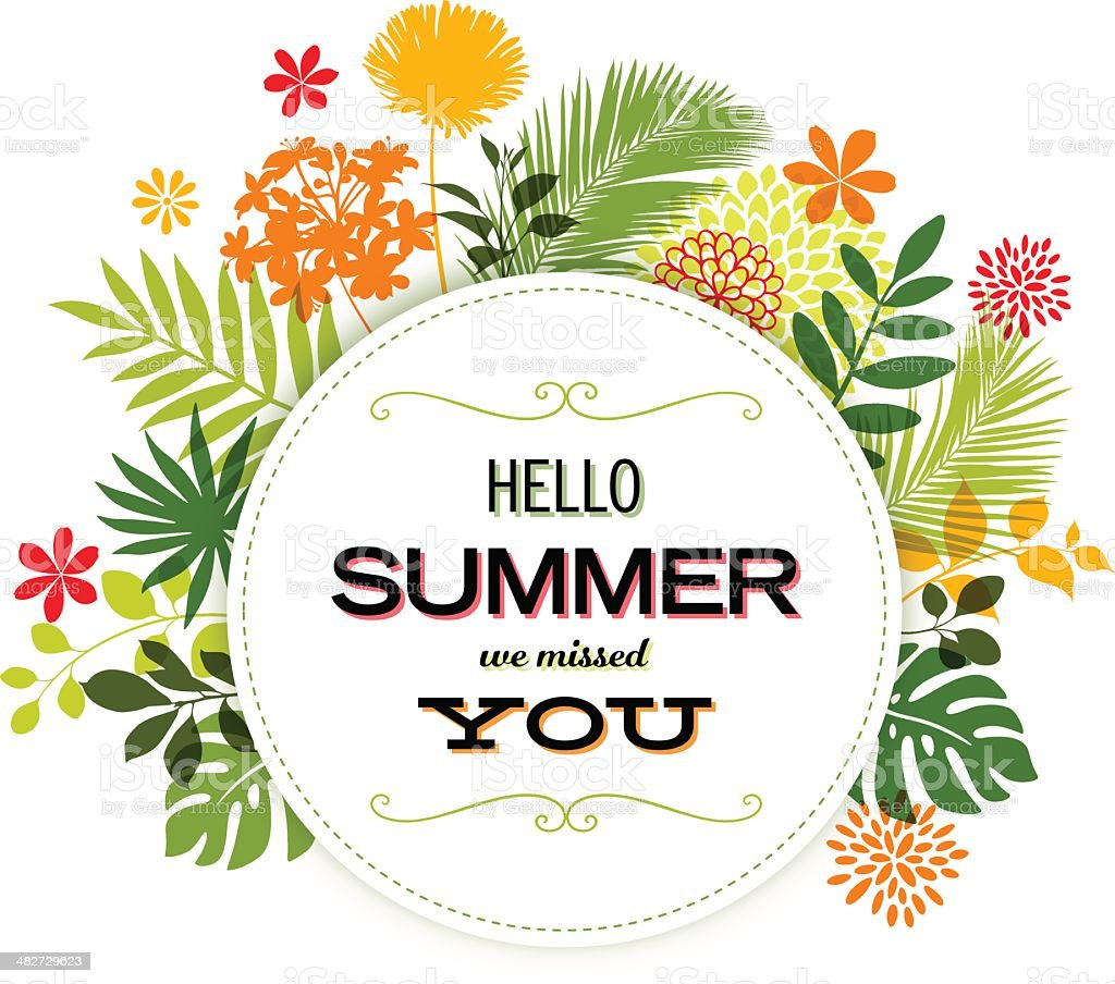 Summer Design with Copyspace royalty-free stock vector art