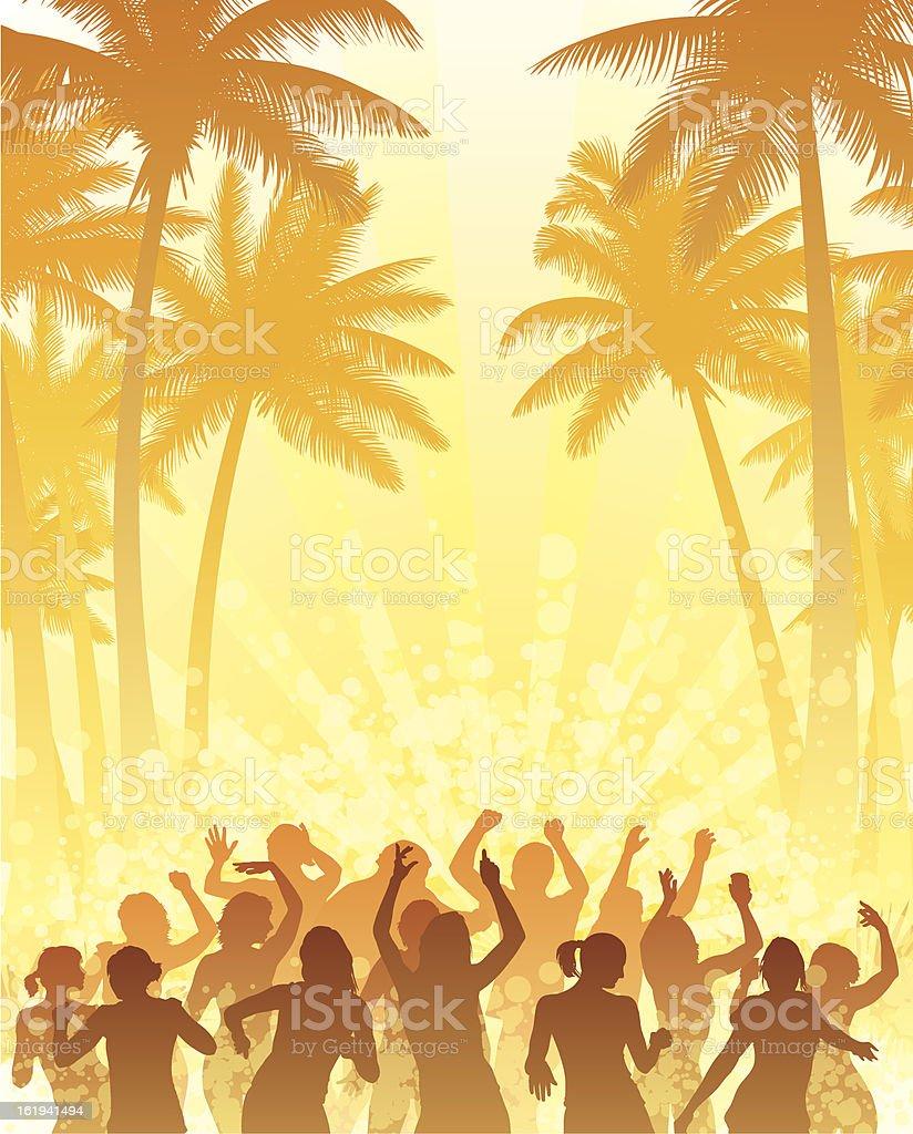 Summer disco vector art illustration