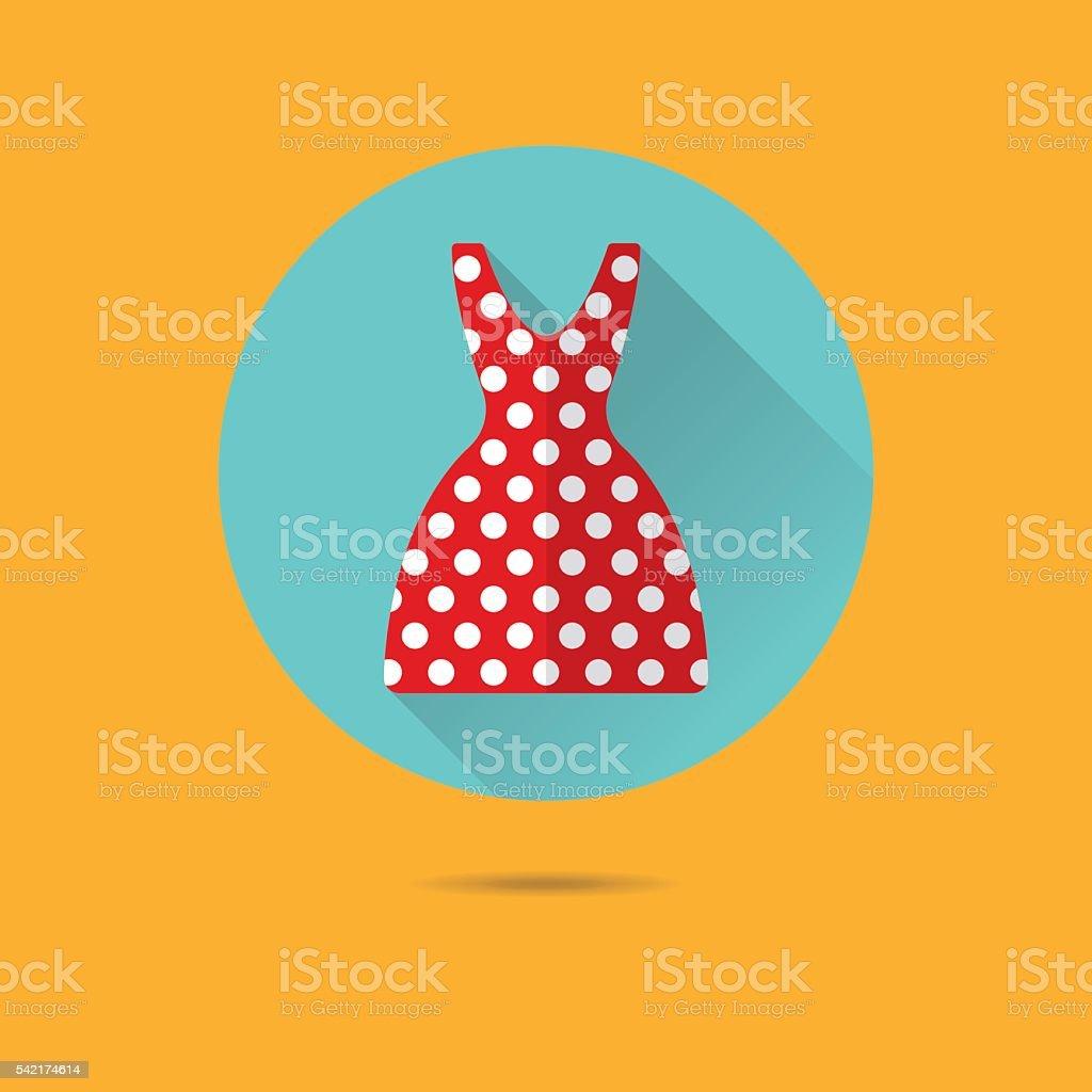 Sommer Kleid flache entwurf Vektor-Symbol – Vektorgrafik