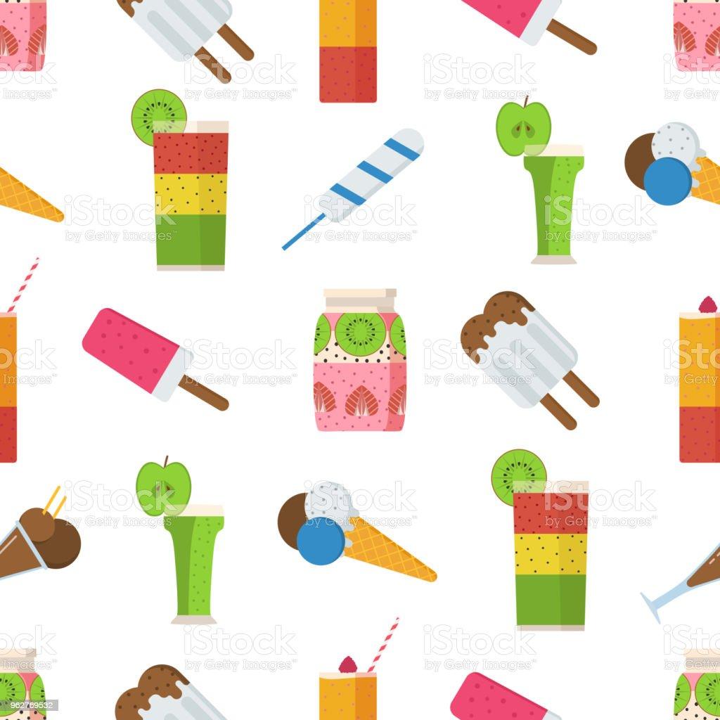 Sommer Getränke Und Eis Muster Stock Vektor Art und mehr Bilder von ...