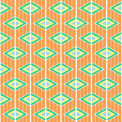 Summer ethnic pattern vector seamless. Abstract geometric texture. Sunny background print for dress fabric