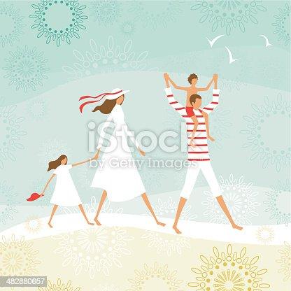 istock Summer family on the beach 482880657