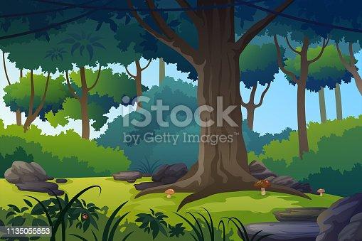 Summer forest glade.
