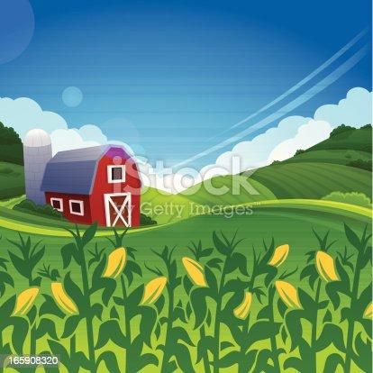 istock Summer Farm 165908320