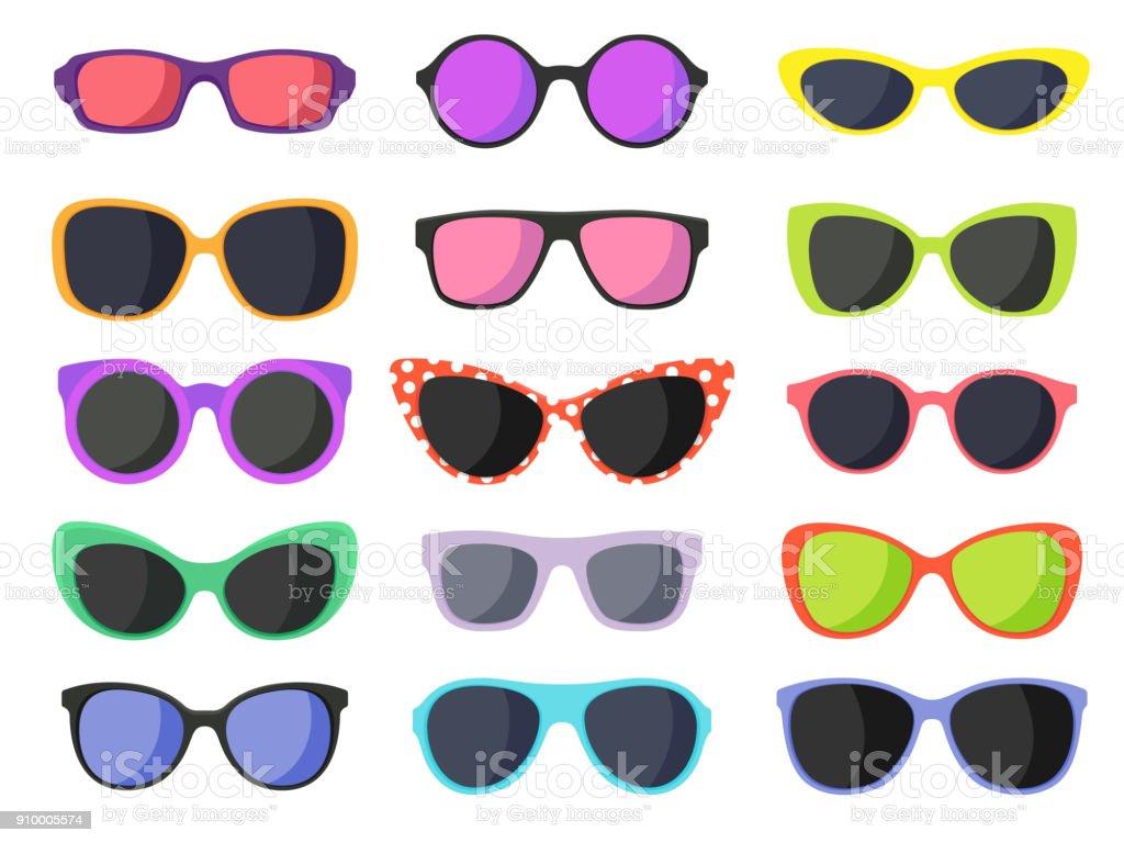 Summer fashion sunglasses vector art illustration