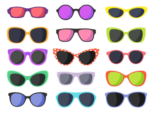 summer fashion sunglasses - okulary stock illustrations