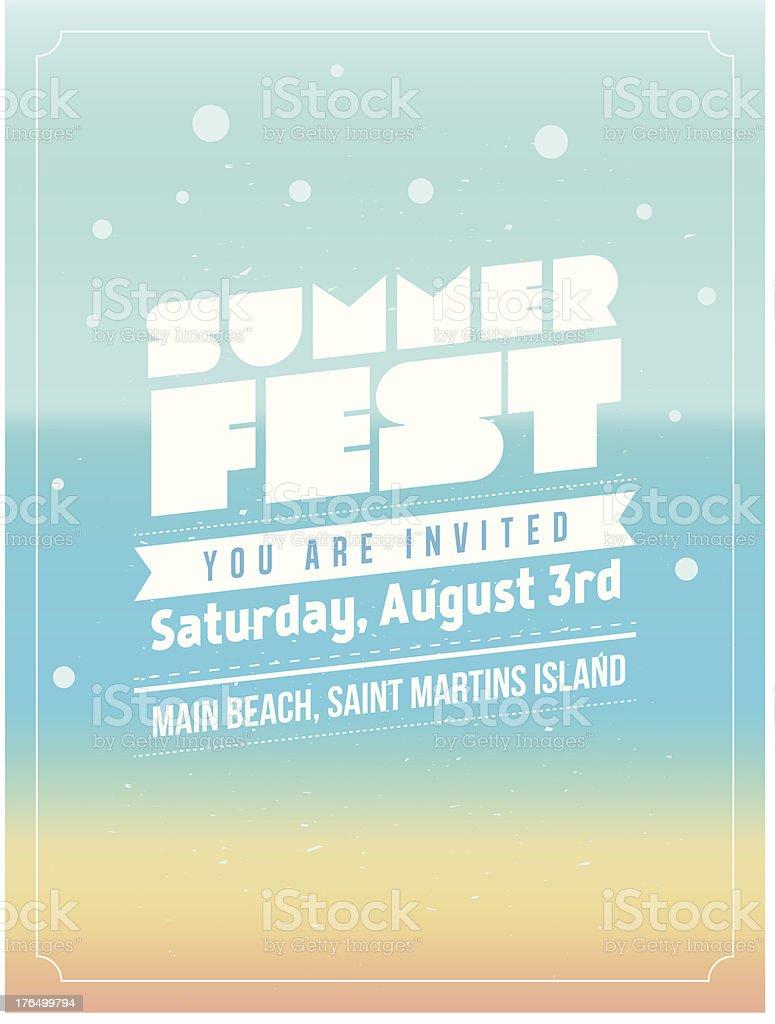 Summer Fest design royalty-free stock vector art